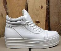 Ботинки-криперсы Urban модные на толстой подошве кожаные Urb0021