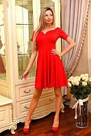 Женское трикотажное платье с короткими рукавами