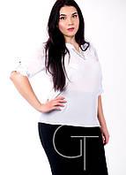 Модная нежная блузка из мягкого штапеля Большие размеры