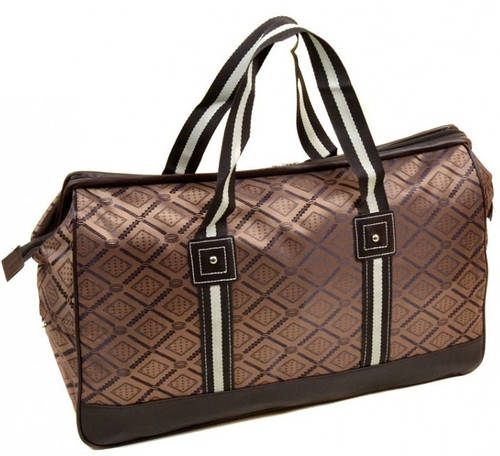 Удивительная дорожная cумка 32 л. текстиль 8803-3 brown