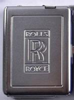 Портсигар на 12 сигарет с выбросом сигарет и зажигалкой Rolls Royce №4178
