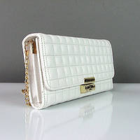 Клатч - сумочка женская кожа PU белый Сhanel 2009