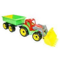 Игрушка Трактор с ковшом и прицеп 3688