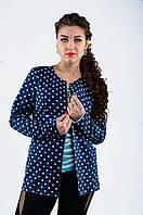 Пиджак котоновый в горошек с карманами