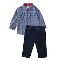 Детский нарядный костюм для мальчика (брюки, рубашка, бабочка)