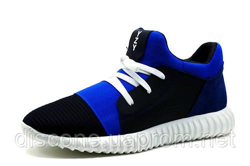 Кроссовки мужские Adidas Yeezy Boost CC35, кожаные, черные с синим, р. 40