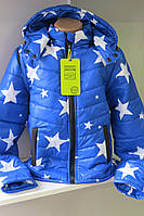 Куртка-жилетка для мальчика, весна-осень, размеры: 98-140.
