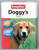 Beaphar Doggy's Liver Витаминизированное лакомство для собак с печенью 75 табл.
