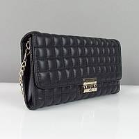 Клатч - сумочка женская кожа PU черная Сhanel 2009