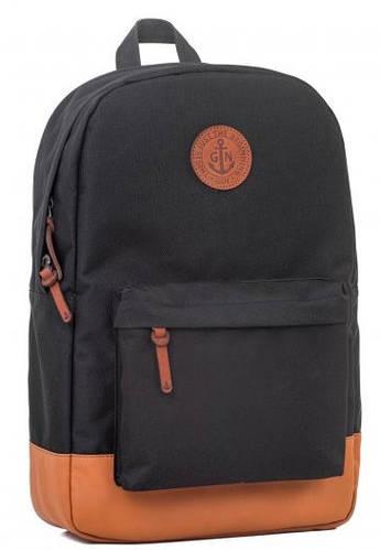 Городской рюкзак с отделением для нетбука (планшета, iPad) на 17 л GIN БРОНКС XL-black