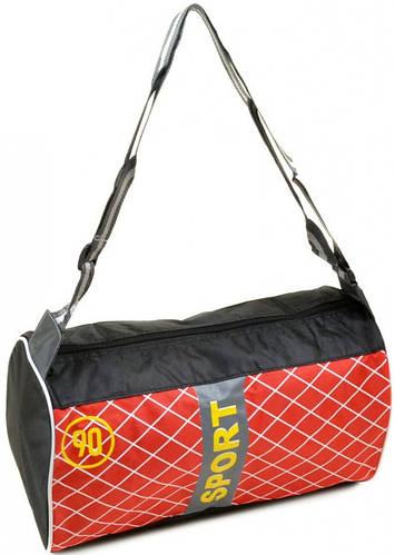 Замечательная дорожная спортивная cумка 17 л. текстиль 290 red