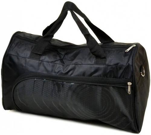 Отличная дорожная спортивная cумка 28 л. текстиль 5786-6 black