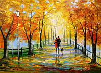 «Золотая осень» картина маслом