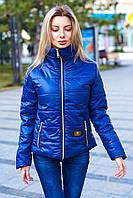 Женская весенняя куртка на молнии и карманами