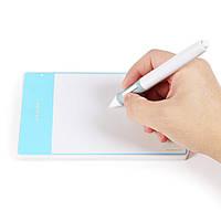 """Планшет  графический Huion H420 для рисования, 4""""x 2.23"""" рабочая область, белый"""