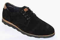 Туфли черные замшевые Massimo