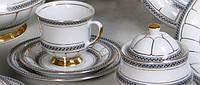 """Сервиз чайный фарфоровый (6 персон / 220 мл / 12 предм./ ) CHODZIEZ """"berni"""" 5411"""