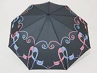 Женский зонт полуавтомат  с кошками
