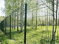 Ø 4мм (1480х2500мм) - Ограждение из оцинкованного прута с полимерным покрытием (Забор) Техна-Восток