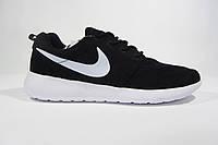 Мужские повседневные кроссовки Nike Roshe Run, сетка, черные, Р. 41 42 44