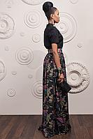 Блуза Женская Элегантная с Коротким Рукавом Хлопковая Черная р.42-48