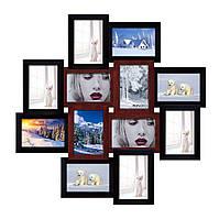"""Большая деревянная мультирамка на 12 фото """"Палермо""""  65х65см (разные цвета)"""