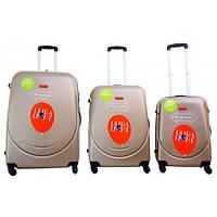Дорожный пластиковый чемодан  310 (3 в 1) Gravitt