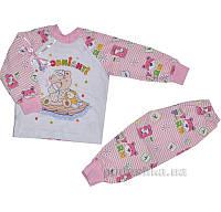 Пижама для девочки теплая Витуся 1002037 80