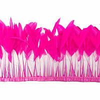 Тесьма перьевая(реснички).Цвет Fuchsia. Цена за 0.5м