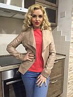 Женский пиджак с качественным кожзамом на замшевой подкладке