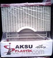 """-Комод пластиковый  """"Ротанг, цвет кофе с молоком"""", фирма AKSU. Производитель Турция."""
