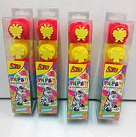Пальчиковые краски Зебра с формочками, Olli (5 цветов), 20 мл.