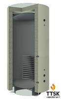 Буферная ёмкость KRONAS для твердотопливного котла с нижним спиральным теплообменником объём 2000л