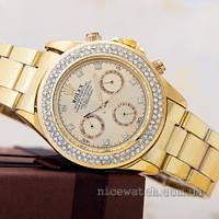 Кварцевые часы Rolex женские золотые в старазах