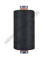 Нитка армированная джинсовая № 80, цв.черный, 800 м, 4000