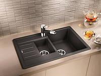 Гранитная кухонная двойная мойка Blanco Legra 6S Compact антрацит