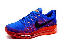 Кроссовки мужские Nike Flyknit Air Max, синие, фото 1