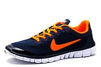 Кроссовки мужские Nike Free Run 3.0 текстиль, темно-синий, р. 41 43, фото 1