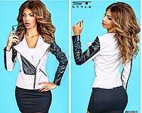 Короткая женская куртка из эко-кожи ST-Style