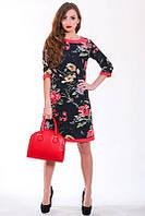 Красивое платье с роскошным цветочным рисунком больших размеров