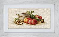 """Набор для вышивания нитками  """"Натюрморт с овощами"""""""
