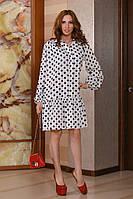 Женское свободное платье из креп шифона с длинными рукавами