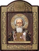Набор с фигурной рамкой для вышивания бисером икона Св. Прп. Сергий Радонежский