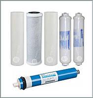 Полный комплект сменных картриджей Aquafilter к шестиступенчатой системе обратного осмоса