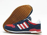 Кроссовки детские Adidas ZX700 синие с красным (адидас)