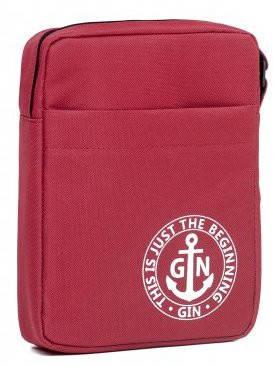 Женская наплечная сумка с отделением для планшета GIN 1736-burgundy