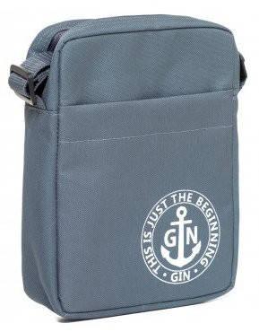 Универсалльная женская наплечная сумка с отделением для планшета GIN 1736-gray