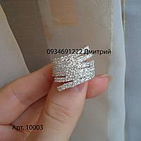 Кольцо Роскошь из серебра с камнями