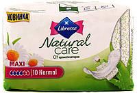 Прокладки гигиенические Libresse Natural Care Maxi Normal 10 шт. 4 капли