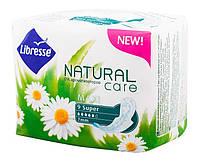 Прокладки гигиенические Libresse Natural Care Maxi Super 9 шт. 5 капель